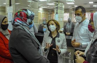 نائبة محافظ الإسكندرية تتابع أداء العمل بالمراكز التكنولوجية بالمنتزه والجمرك   صور