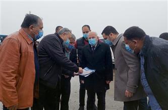 محافظ بورسعيد يتفقد أعمال تطوير محيط منفذ النصر الجمركي المطور | صور