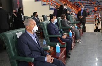 وزير الرياضة ورئيس الاتحاد الدولي لليد يشهدان مباراة أنجولا واليابان بالصالة المغطاة بالإسكندرية | صور