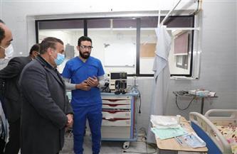 محافظ المنوفية يتفقد العناية المركزة بالمستشفى التعليمي | صور