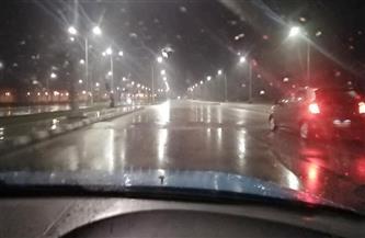 سقوط أمطار غزيرة على دمياط واستمرار إغلاق بوغاز عزبة البرج