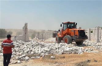 إزالة 25 حالة تعد بالبناء على الأراضي الزراعية فى الغربية
