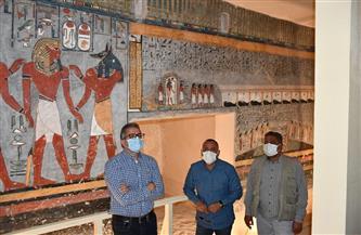 «السياحة والآثار» تعيد افتتاح مقبرة رمسيس الأول بعد ترميمها | صور
