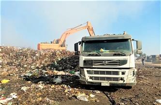 نقل 4164 طنا من المخلفات بالغربية إلى المدفن الصحي بمدينة السادات| صور