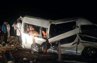 إصابة شخصين فى حادث تصادم ميكروباص بسيارتي نقل أعلى الدائرى