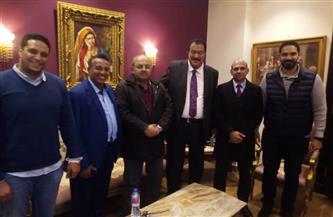هشام حطب يستقبل رئيس الاتحاد العربي للجودو برفقة نظيره المصرى | صور