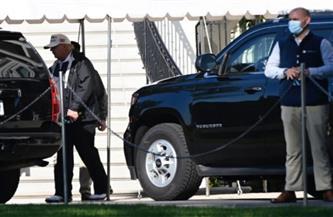 ترامب يغادر البيت الأبيض من الحديقة الجنوبية للمرة الأخيرة
