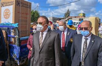 محافظ الإسكندرية يطلق إشارة بدء مشروع تطوير قرية باب الأحرار   صور