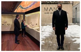 وزير السياحة يزور متحف الآثار القومي بمدريد | صور