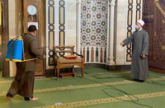 الأوقاف تواصل حملتها لنظافة وتعقيم المساجد | صور