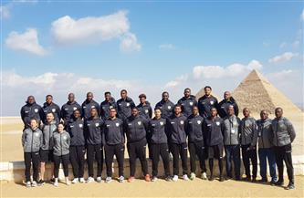 المنتخب الألماني لكرة اليد يزور منطقة آثار الهرم