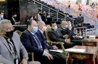 وزير الرياضة يشهد مباراة السويد وبيلا روسيا ببطولة العالم لليد بصالة ستاد القاهرة