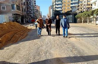 محافظ الشرقية يتفقد تنفيذ مشروعات الرصف في شوارع منيا القمح | صور
