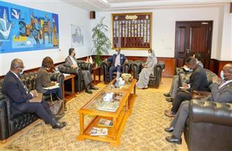 """رئيس """"البريد"""" يستقبل السكرتير العام لمنطقة التجارة الحرة القارية الإفريقية   صور"""