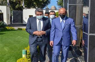 وزير الشباب والرياضة العراقي يزور مقر اتحاد الكرة