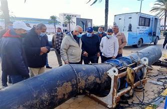 """رئيس """"مياه الشرب"""" بالبحيرة يتفقد أعمال الإحلال والتجديد بمحطة مياه دمنهور  صور"""