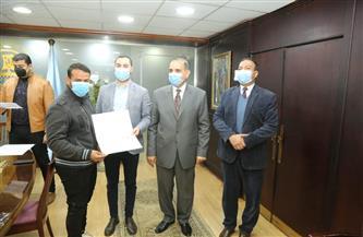 محافظ كفرالشيخ يكرِّم أعضاء الهيئة العامة للأبنية التعليمية |صور