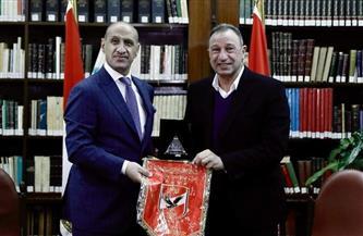 الخطيب يستقبل وزير الشباب والرياضة العراقي |صور