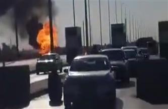 تفاصيل حادث انفجار سيارة أسطوانات الغاز على طريق القاهرة الإسماعيلية الصحراوي | فيديو وصور