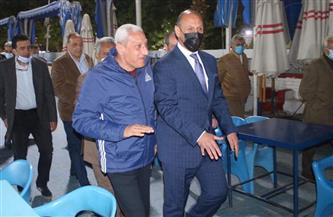رئيس الزمالك يستقبل وزير الرياضة العراقي ويهدية درع النادي