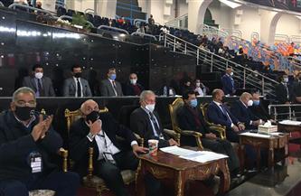 وزير الرياضة يشهد مباراة السويد وسلوفينيا ببطولة العالم لليد