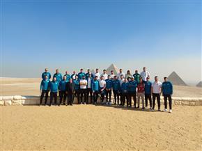 منطقة آثار الهرم تستقبل عددًا من لاعبي منتخبات كرة اليد | صور