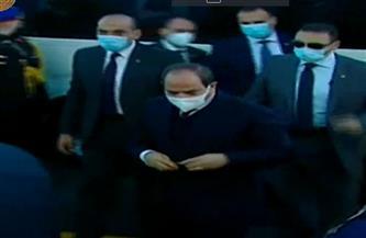 العاملون بمشروع الفيروز يستقبلون الرئيس السيسي بهتاف «تحيا مصر»