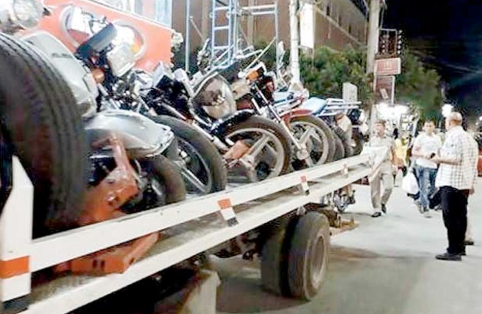 ضبط  دراجة نارية مخالفة خلال أسبوع