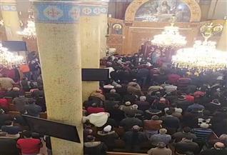قداس الجنازة على ضحايا عقار المحلة المنهار بكنيسة الشهيدة دميانه  صور