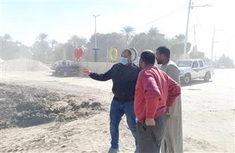 إحلال وتجديد كوبري خرسانة بمدينة الطود في الأقصر   صور