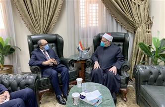 المفتي يستقبل السفير الأفغاني بالقاهرة لبحث تعزيز التعاون الديني