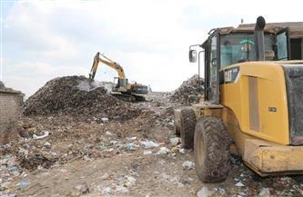 المنوفية ترفع تراكمات القمامة بمقلب بركة السبع العمومي بتكلفة 15 مليون جنيه |صور