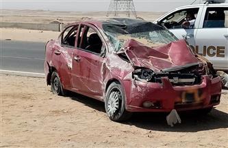 مصرع شخص في انقلاب سيارة على الطريق الصحراوى الغربي بسوهاج