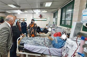 وكيل الصحة بالغربية يوجه بمنع الزيارات بمستشفى كفر الزيات  صور