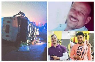 مصرع أب واثنين من أبنائه في حادث على طريق جمصة بالدقهلية