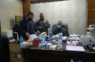"""ضبط أدوية مهربة وغير مسجلة داخل مركز """"الفيلر والبوتكس"""" في المنصورة  صور"""