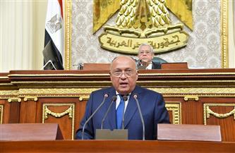 25 رسالة لوزير الخارجية أمام البرلمان تبرز دور الدبلوماسية المصرية لحماية حقوق مصر