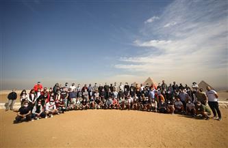 مونديال اليد.. 150 إعلاميا أجنبيا يزورن أهرامات الجيزة..  وإشادات بالتنظيم و«الإجراءات الاحترازية» | صور