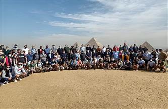أعضاء منتخبات البرتغال وبولندا والبرازيل يلتقطون صورا تذكارية بالأهرامات | صور