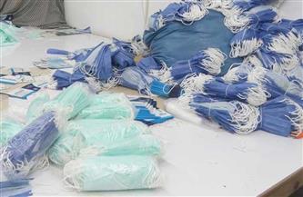 ضبط مصنع غير مرخص لإنتاج الكمامات بالقليوبية