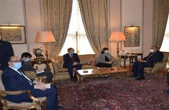 شكري يعقد مباحثات مع ممثلة الاتحاد الأوروبي لعملية السلام في الشرق الأوسط | صور
