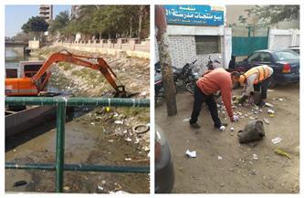 رفع عشرات الأطنان من القمامة والمخلفات ببحر مويس بالشرقية   صور