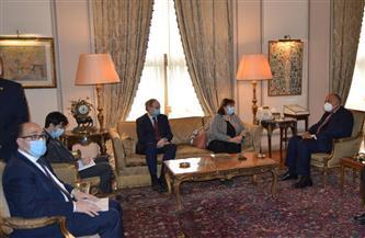 وزير الخارجية يعرب عن ثقته في استمرار الدعم الأوروبي للقضية الفلسطينية | صور