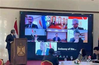سفارة مصر في بكين تستضيف مؤتمرًا للاستثمار وتدشن أول منصة لربط رجال الأعمال في مصر والصين   صور
