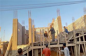 حملات مكبرة لإيقاف أعمال البناء المخالف بـ 4 أحياء بالإسكندرية