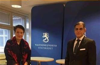 سفير مصر في هلسنكي يلتقي وزير التعليم بجمهورية فنلندا