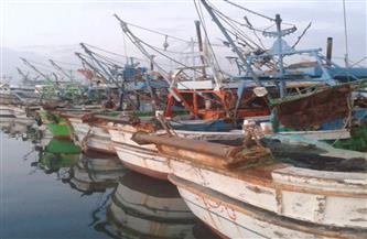 إغلاق ميناء الصيد بالمعدية وبوغاز رشيد بسبب سوء الأحوال الجوية بالبحيرة
