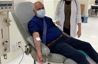 وكيل الصحة بالغربية يتبرع بالدم لحث المواطنين على المشاركة | صور