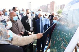 وزير النقل يتفقد أعمال إنشاء ازدواج طريق الزقازيق السنبلاوين الحر بالشرقية  صور