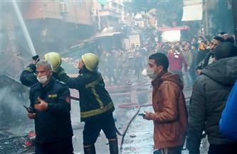 حريق التوفيقية.. الخسائر لحقت بـ22 محلا والمحافظ يشكل لجنة هندسية لفحص العقارات المتضررة| صور